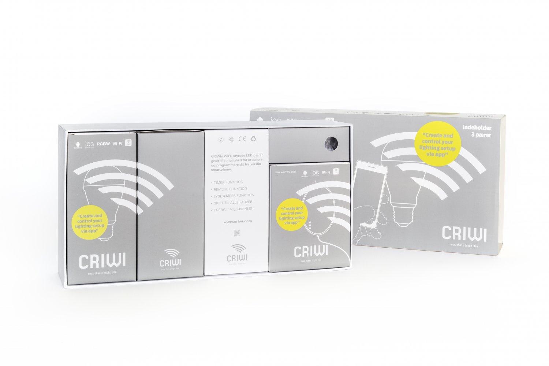 Criwi High Quality Intelligent Wifi LED Light bulb with App (set of 3)