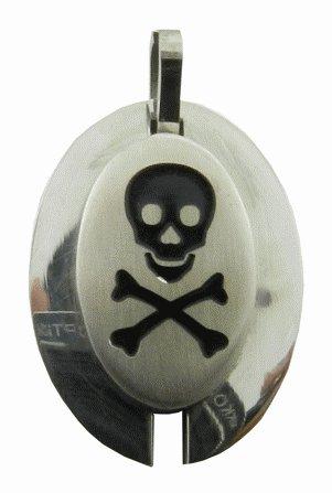 316L Stainless Steel Skull Pendant
