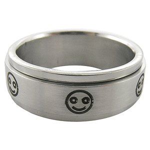 316L Stainless Steel Rotating Band Men's Ring