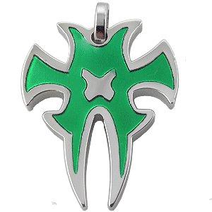 316L Green Stainless Steel Tribal Pattern Pendant