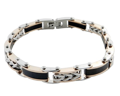 316L Stainless Steel Silver and Gold Chain Casual Fashion Men's Bracelet