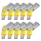 Enfain® 10pcs Cheap Giveaway Bulk 64MB USB 2.0 Flash Memory Thumb Drive(64MB, Yellow)