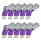 Enfain® 10Pcs Nice Swivel Design New Waterproof USB 2.0 Flash Drive Memory Stick(1GB,Purple)