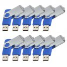 Enfain® 10Pcs Nice Swivel Design New Waterproof USB 2.0 Flash Drive Memory Stick(4GB,Blue)