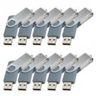 Enfain® 10Pcs Nice Swivel Design New Waterproof USB 2.0 Flash Drive Memory Stick(16GB,Gray)