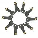 Enfain® 10Pcs Bulk Promotional 64MB Metal Key USB Flash Drive 2.0 Memory Stick Pen Drive(Black)