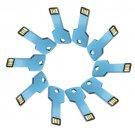 Enfain® 10Pcs 128MB Metal Key USB 2.0 Flash Drive Memory Stick Pen Drive Multi Color Choice(Blue)