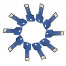 Enfain® 10Pcs 128MB Metal Key USB 2.0 Flash Drive Memory Stick Multi Color Choice(Dark Blue)