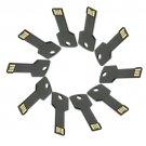 Enfain® 10Pcs Metal Key 4GB USB Flash Drive 2.0 Memory Stick Pen Drive Thumb Stick (Black)
