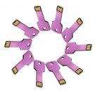 Enfain® 10Pcs Metal Key 4GB USB Flash Drive 2.0 Memory Stick Pen Drive Thumb Stick (Purple)