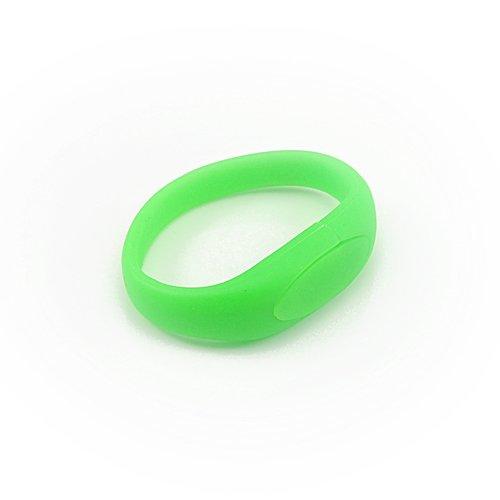 Enfain® Nice Wrist Band Style New Silicone Waterproof USB 2.0 Flash Drive Memory Stick (8gb,Green)