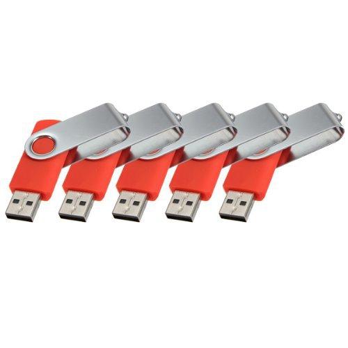 Enfain® 5pcs Cheap Bulk 512MB Red Swivel Waterproof Usb 2.0 Flash Drive Memory Stick