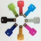 Enfain® 8 Mix Color 8Pcs 128MB Giveaway Metal Key USB 2.0 Flash Drive Memory Stick