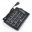 Enfain® 5 pcs USB 19 Keys Black Color Numeric Numerical Keypad Keyboard Pad