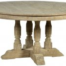 STUNNING LARGE OAK DINING ROOM TABLE,60''DIAMETER X 29''TALL.