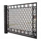 STUNNING CAST ALUMINUM FANCY GATE/FENCE, SLIDING DOOR,114''WIDE X 74.5''TALL.