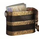 AWESOME MORROCAN BRASS&BLACK MAGAZINE HOLDER,15'' X 7'' X 11''H.