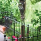 ADORABLE OLD DOOR GLASS KNOB WINDCHIMES,26''TALL.