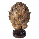 Adorable Beautiful Antiqued Gold Artichoke Box ,6.5'' x 10.5''h.