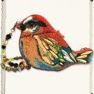 ADORABLE MARY FRANCES NEW LIMITED EDITION BEADED CRYSTAL BIRD PURSE,9''.