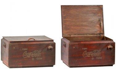 FABULOUS COCA COLA IRON COOLER,22'' X 17'' X 13''TALL.