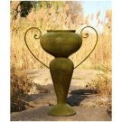 FABULOUS ABRAHAM URN PLANTER W/IRON HANDLE,18''DIAM X 36''TALL.