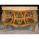 Gorgeous French Commode Cabinet /Dresser Marble Top w/ Ormolu,55'' x 23'' x 36''