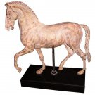 AWESOME LARGE FAUX BRONZE VERDE ANTIQUE STYLE HORSE STATUE/FIGURINE,23'' X 22''H