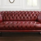 RESTORATION HARDWARE GOODWOOD/CHESTERFIELD ANTIQUE WINE,89''WIDE!