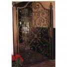 STUNNING BLACK IRON GARDEN GATE/DOOR WITH POST,39'' W X 1''D X 70''TALL.