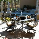 FABULOUS FIESTA 6 PIECES DINING SET W/4 CENTER TOPS!