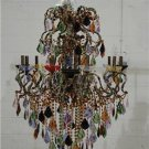 FABULOUS ECHALLEN MEDIUM AMBER CRYSTALS CHANDELIER,CHIC!!!