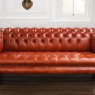 RESTORATION HARDWARE SANDRINGHAM/CHESTERFIELD LEATHER SOFA ,92''WIDE!
