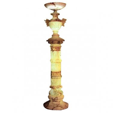 FABULOUS HOLLYWOOD REGENCY STYLE ALABASTER COLUMN URN FLOOR LAMP,SO CHIC! 2 LEFT