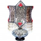 GORGEOUS BOUTIQUE BORDOIR ROMANTIC TABLE LAMP,16''DIAM X 25''TALL.