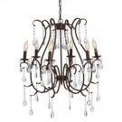 GORGEOUS URBAN VINTAGE BROWN JEWELED  CHANDELIER,25'' X 24'' X 22''''TALL..