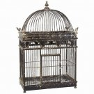 GORGEOUS VINTAGE STYLE DOME BIRDCAGE WITH BIRDS ACCENT,31.5''TALL.