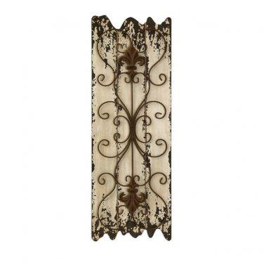 GORGEOUS ANTIQUE STYLE GOTHIC GARDEN IRON GATE WALL DECOR,32''TALL.