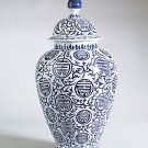 FABULOUS ANTIQUE ORIENTAL STYLE QUEEN'S VASE,26''TALL.