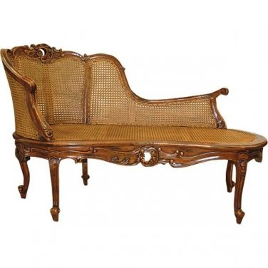 CHIC SHABBY NEW FRENCH STYLE  MAHOGANY WALNUT SETTEE,57''WIDE,1 LEFT!!