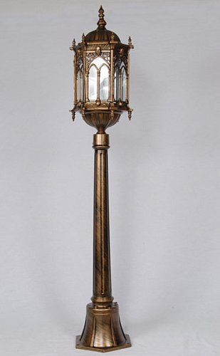 GOTHIC GRASS LAND LAMP POST,48''TALL!
