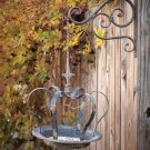 ADORABLE QUEEN CROWN GAZEBO IRON BIRD FEEDER, 13'' X 27''H.