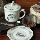 ADORABLE STONEWARE CAT&MOUSE TEA CUP/MUG SET FOR ONE,6''H.