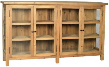 BEAUTIFUL OLD WORLD STYLE RECYCLED PINE WOOD SIDEBOARD/BUFFET TABLE