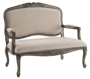 CHIC SHABBY NEW FRENCH STYLE  LINEN SETTEE,49''LONG