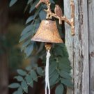 ADORABLE CAST IRON RUSTIC BIRD DOOR BELL ,5'' X 6''H.