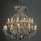 STUNNING VINTAGE STYLE MARIA THERESA CRYSTAL FRUIT CHANDELIER,44.5'' X 38''TALL.