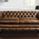RESTORATION HARDWARE HOLYROOD HOUSE  CHESTERFIELD SOFA,85''WIDE!
