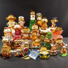Mixed Vintage Lot 25 Garfield Collection Figurines Chimes Ornaments Enesco