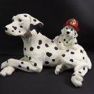 Collectible Figurine Westland  Datamation Dog Puppy Fireman Helmet Mascot